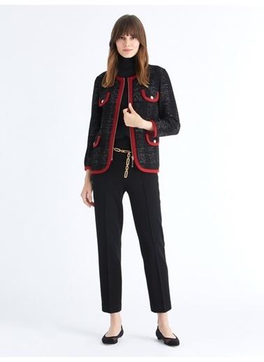Triko Mısırlı Ceket Kırmızı
